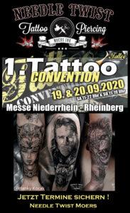 Die Tattoo Convention in Rheinberg rückt näher – noch schnell Termin sichern